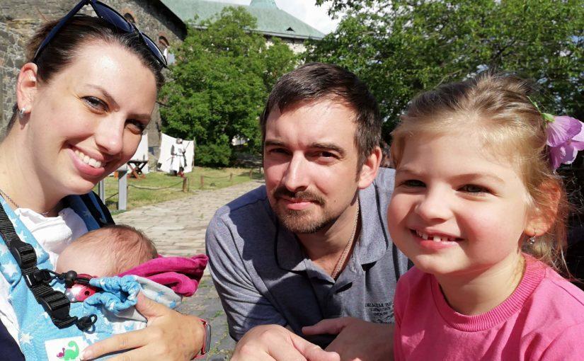 Terezka Knappová s rodinou
